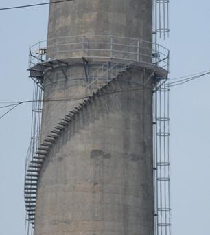 烟囱检测平台安装